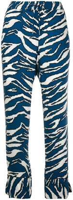 Zadig & Voltaire Zadig&Voltaire tiger print fitted trousers