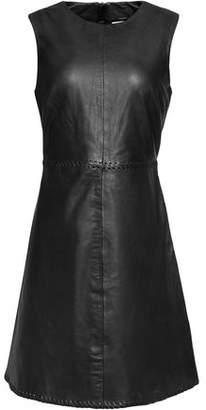 Muu Baa Muubaa Whipstitch-Trimmed Leather Mini Dress