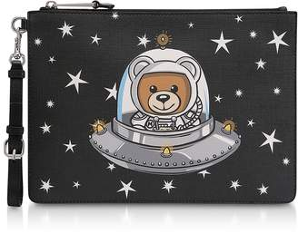 Moschino Black UFO Teddy Clutch