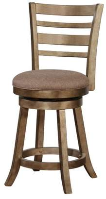 Linon Wood and Foam and Fabric Bar Stool