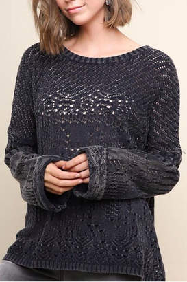 Umgee Garment Dyed Sweater