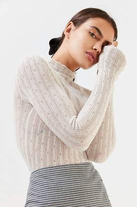 Urban Outfitters Poppy Pointelle Turtleneck Sweater