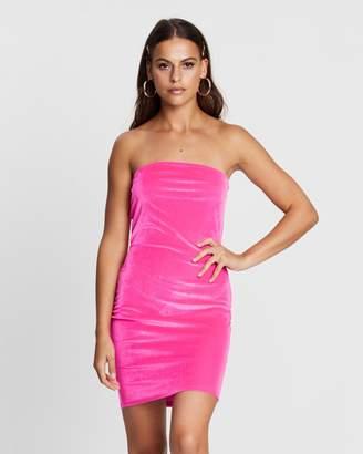 Missguided Velvet Bandeau Mini Dress
