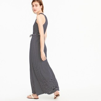 Striped maxi dress with tie waist $88 thestylecure.com