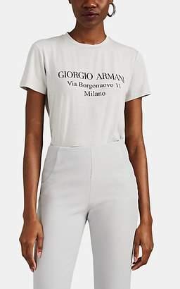 Giorgio Armani Women's Logo Jersey T-Shirt - Gray