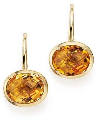 Bloomingdale's Citrine Oval Drop Earrings in 14K Yellow Gold - 100% Exclusive