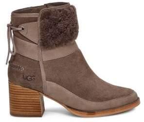UGG Kirke UggPure Suede & Sheepskin Ankle Boots