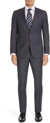 Canali Milano Classic Fit Check Wool Suit