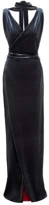 Sarvin - Karolina Velvet Wrap Maxi Dress