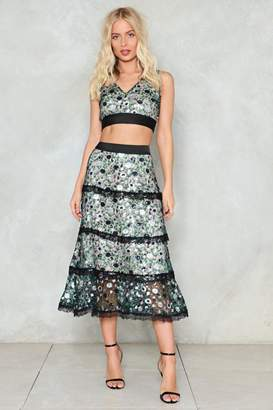Nasty Gal Sequin or Lose Midi Skirt
