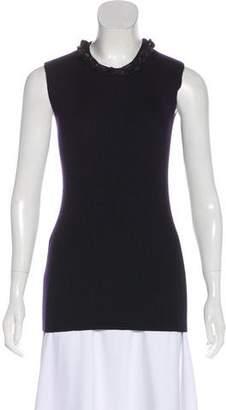 Chanel Cashmere-Blend Embellished Top