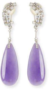 David C.A. Lin 18k Lavender Jadeite Teardrop Earrings