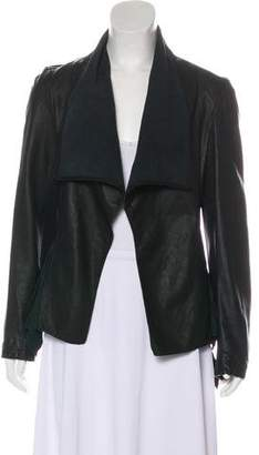 AllSaints Ruffled Leather Jacket