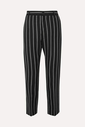 Vivienne Westwood James Bond Cropped Striped Wool Slim-leg Pants - Black