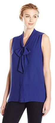 Lark & Ro Women's Bow Front Blouse