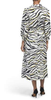 Made In Italy Zebra Print Midi Dress