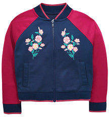 Very Embroidered Satin Bomber Jacket