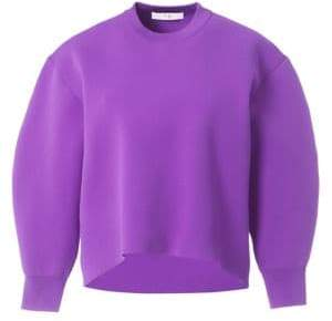 Tibi Tech Cropped Pullover
