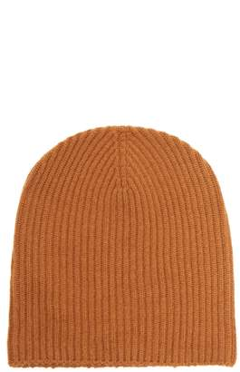 EDWARD CRUTCHLEY Ribbed-knit cashmere beanie hat