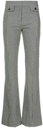 Derek Lam 10 Crosby flared houndstooth trousers