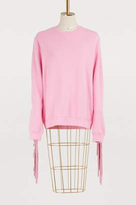 MSGM Fringed Texas sweatshirt