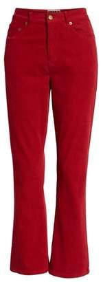 Pam & Gela Corduroy Slim Crop Flare Pants
