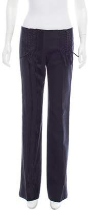 Just Cavalli Braided-Accented Mid-Rise Pants