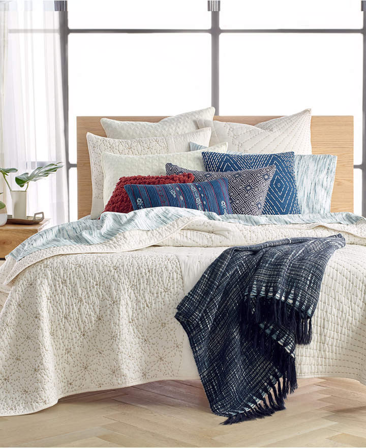 Sashiko Twin Quilt, Created for Macy's Bedding