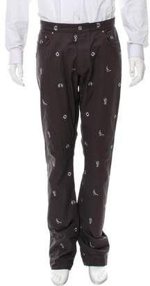 Thom Browne Nautical Pattern Straight-Leg Pants