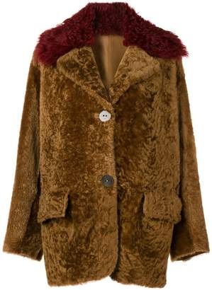 Sylvie Schimmel oversized collar shearling coat