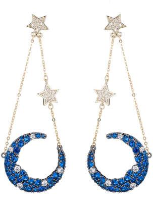 Eye Candy Los Angeles Eye Candy La Nevaeh Cz Crystal Star Moon Drop Earrings