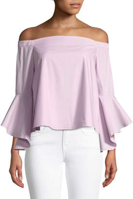 Glamorous Bardot Off-the-Shoulder Flare Sleeve Blouse