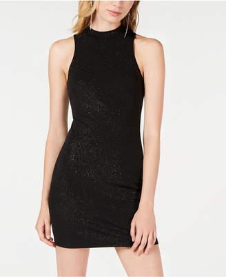 Speechless Juniors' Glitter Knit Bodycon Dress