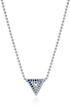 Alex Woo Little Elements Sterling Silver Triangle with Swarovski Genuine Sapphires Pendant Necklaces