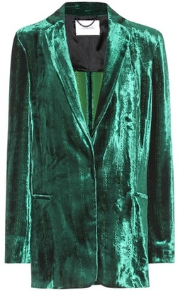 Dorothee Schumacher Smooth Flaunt velvet jacket