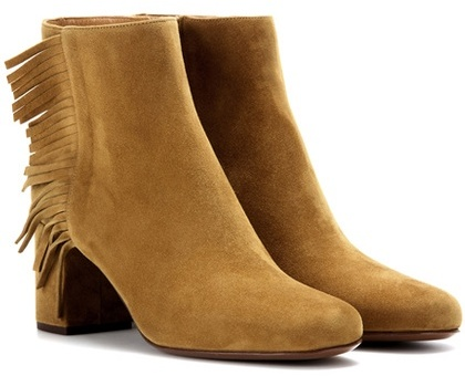 Saint Laurent Babies 70 fringed suede ankle boots