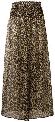 Fisico leopard print maxi skirt