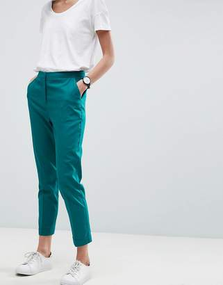 Asos Design Tailored Linen Cigarette Trousers