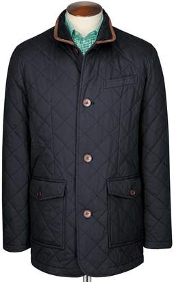 Charles Tyrwhitt Navy Quilted Cotton Jacket Size 36
