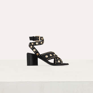 Maje Healed leather sandals with studs