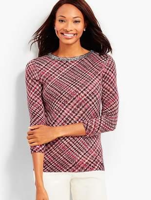 Talbots Cashmere Glenn Plaid Sweater