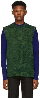 Namacheko Green Three Ply Crewneck Vest