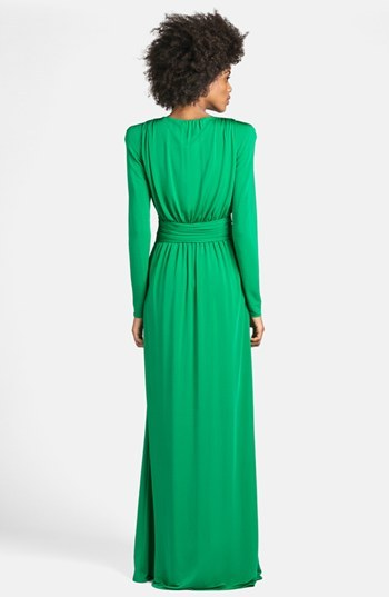 Emilio Pucci Deep V-Neck Jersey Gown
