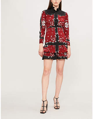 Sandro Lucila printed crepe dress