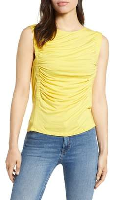 Bobeau Cinched Sleeveless Knit Top