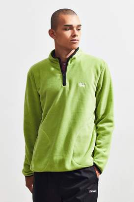 Stussy Polar Fleece Quarter-Zip Pullover Sweatshirt