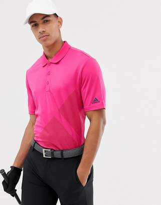 adidas Bold Logo Polo In Pink