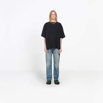 Balenciaga Cotton T-shirt with back seasonal print