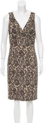 Michael Kors Printed Shift Dress Tan Printed Shift Dress