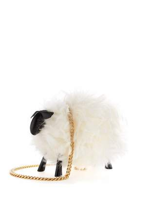 Oscar de la Renta Juice the Sheep Shearling Bag in White